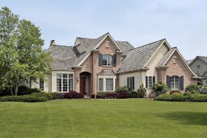 large manor with huge front yard