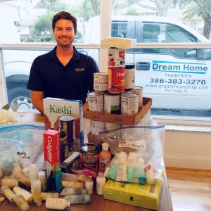 Dream home inspection helping FL victims supply drive